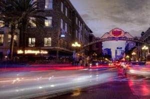 Night photography car trails light