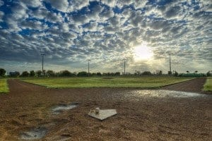 istock photo of a baseball field