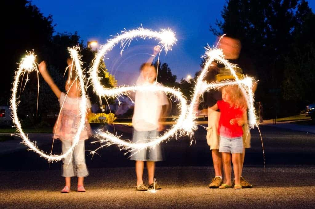 sparklers on the fourth of july