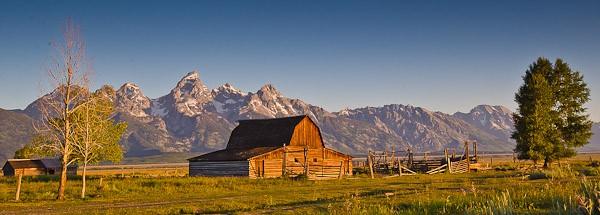 Mormon Row barn in Grand Teton National Park