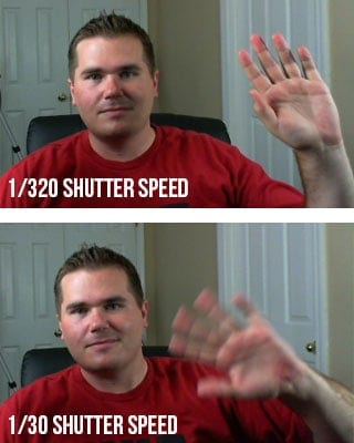 Example picture of motion blur caused by too slow of a shutter speed.