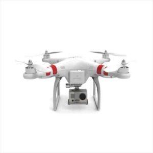 DJI Phantom quadrocopter with GoPro Hero 3 mounted underneath.