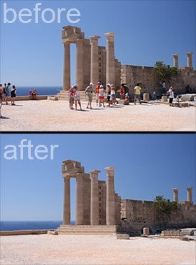 This little technique makes it EASY to get rid of the tourists in your travel shots!