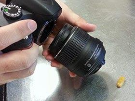 Backward lens for shooting macro