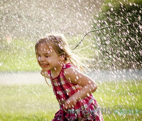 Third place winner was Michelle Salsman with her fantastic and fun shot of her daughter.