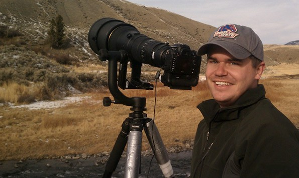 That's me! With a giant 600mm lens shooting wildlife in Yellowstone.