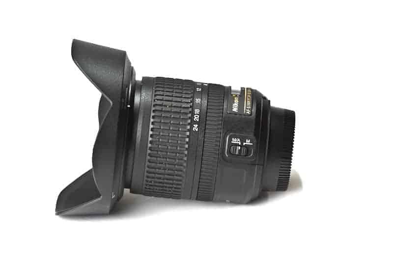 Nikon super wide-angle lens for landscape photography