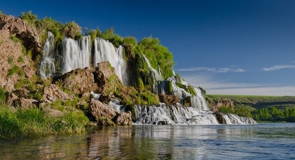 A waterfall in Idaho