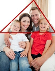 Triangles for composition in group photography.
