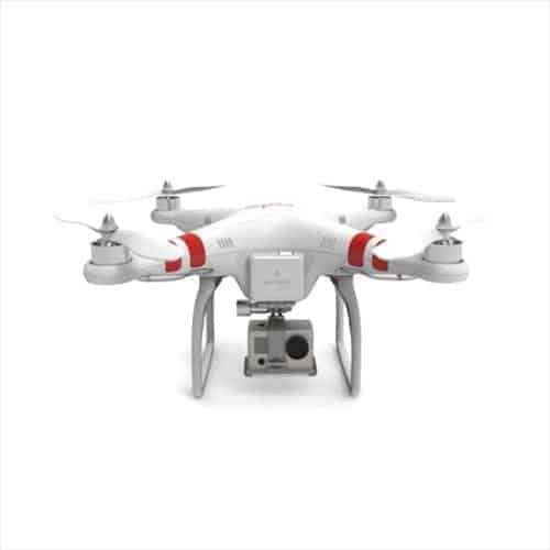 DJI Phantom Quadrocopter With GoPro Hero 3 Mounted Underneath