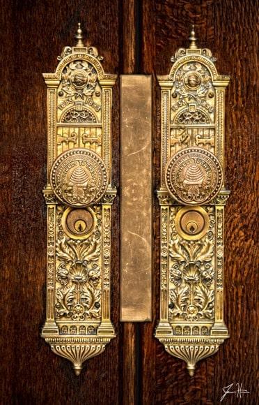 Salt Lake City LDS Temple doorknobs