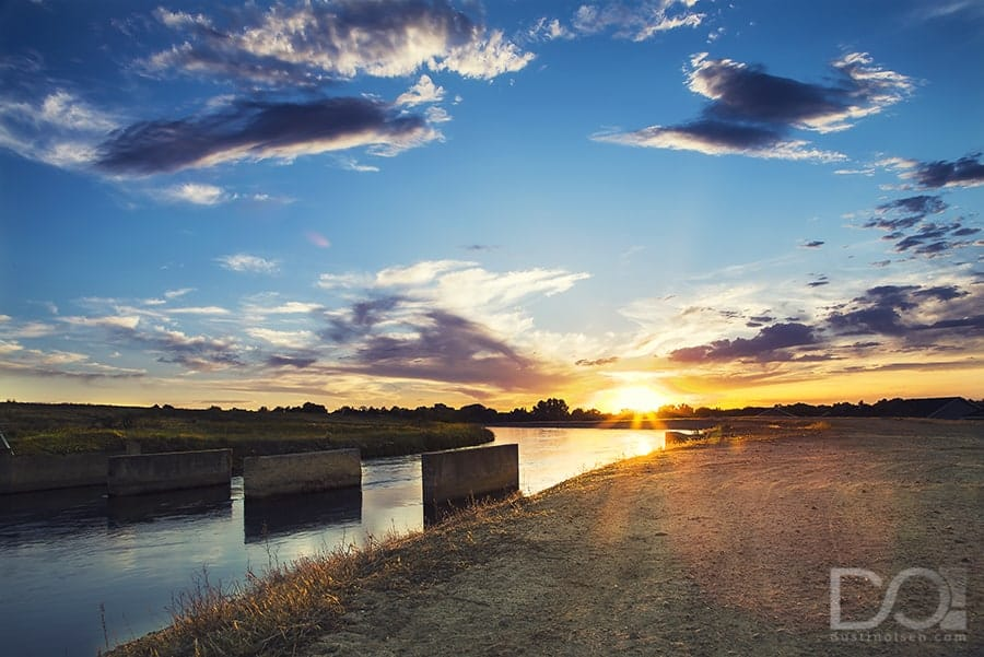 Canal Sunset - by Dustin Olsen