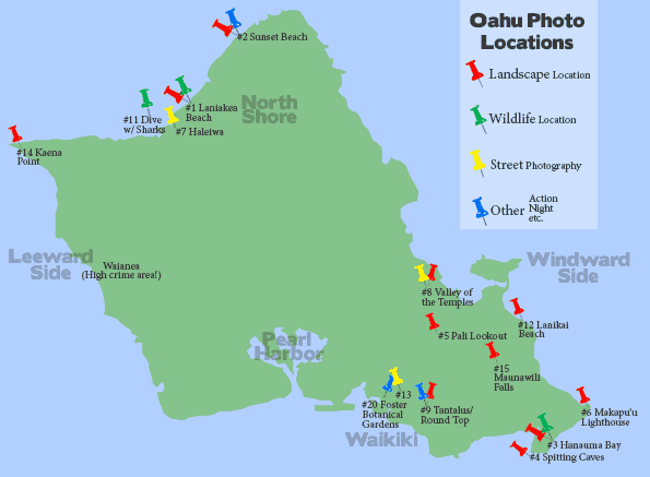 Top 15 Photo Locations on Oahu Hawaii Voted by locals – Tourist Map Of Oahu