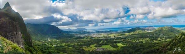 Pali Lookout Panorama Hawaii