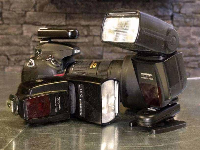slave-mode camera setup