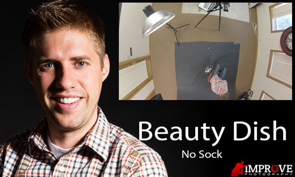 Beauty dish without a sock example.