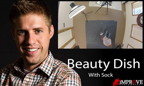 Beauty dish with sock example