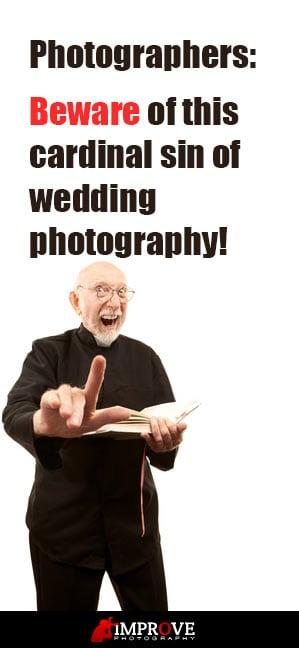 Angry pastor warning photographers.