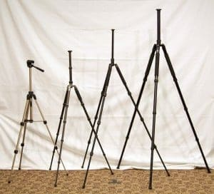 Tripods come in many different sizes with lots of different features.
