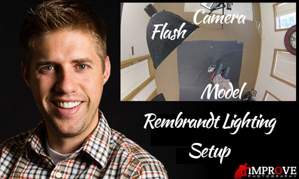 Where to place your flash for rembrandt lighting