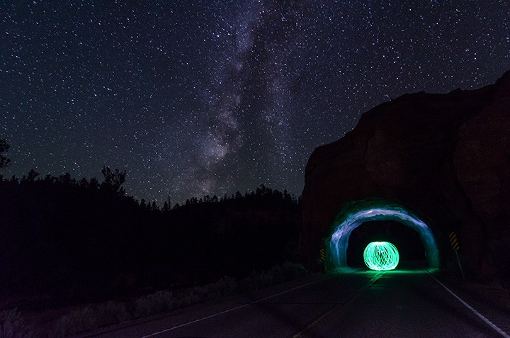 Red canyon orb photo by Rusty Parkhurst