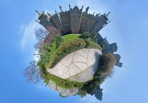This is a 360 degree shot stitched together to make a small world.