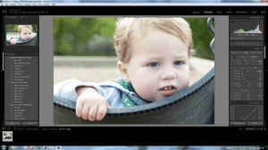 Screenshot Lightroom 5 Develop Noah on swing