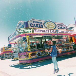 Anna Shirley bubbles at the fair