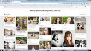 Mindy Newton Photography Pinterest Screenshot Seniors
