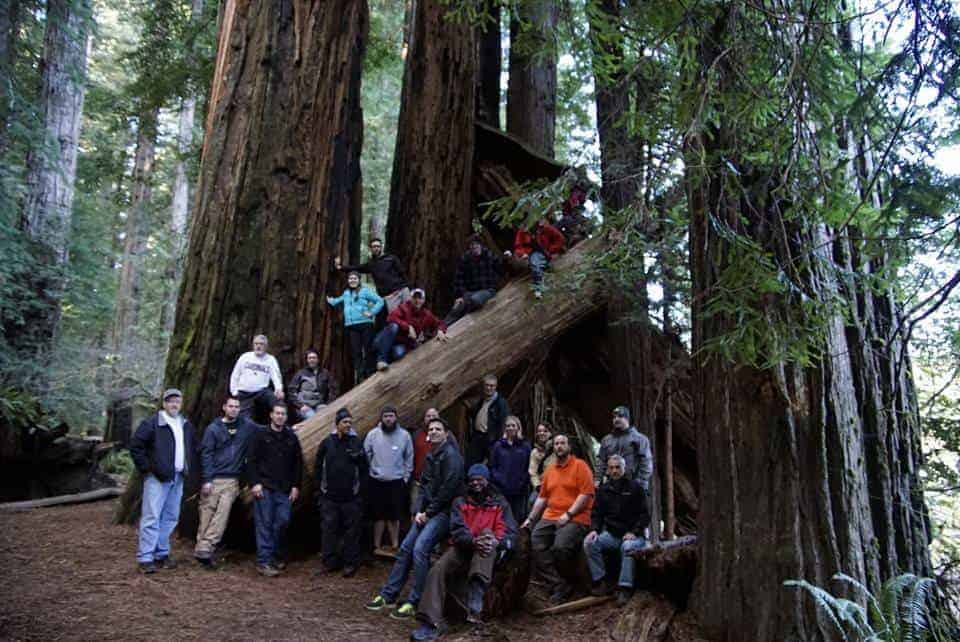 Just a few of the photographers on the trip. We never got a group photo with some of those who didn't make it down to the Redwoods.