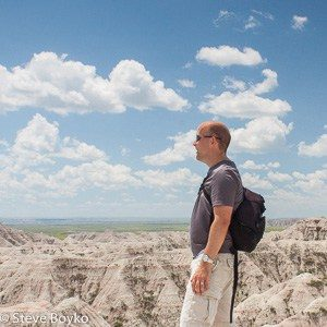 Photographer at South Dakota Badlands - Steve Boyko