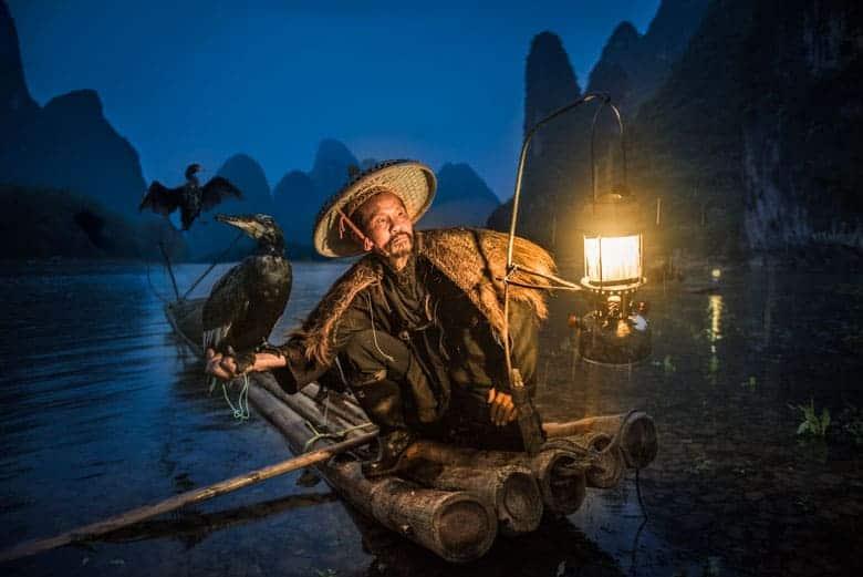 Cormorant fisherman in China