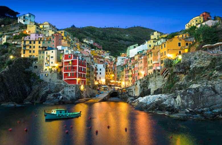 Riomaggiore Italy in the Cinque Terre