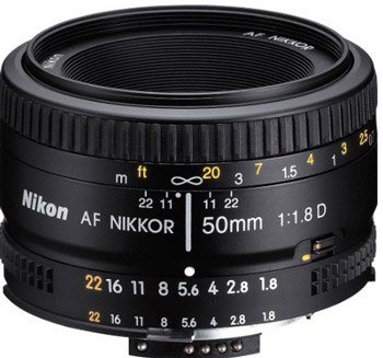 The Nikon 50mm f/1.8D lens. This is the older version, but one which is still a very high quality lens. (Click to view on Amazon.com)