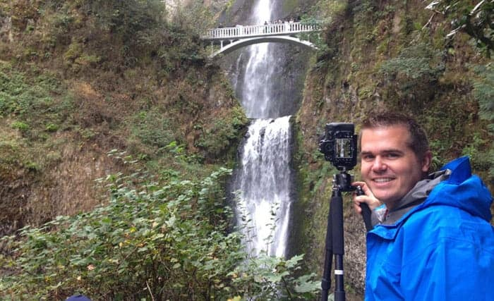 That's me again!  Shooting with my Feisol in Portland, Oregon.