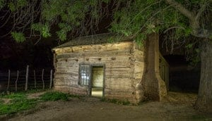 Light painting of Gafton Ghost Town - Photo by the author - Jim Harmer