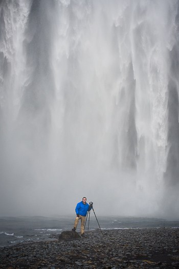 That's me (Jim Harmer)! This photo was taken while I was doing a meetup with readers of Improve Photography in Iceland.