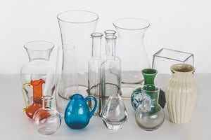 Have a variety of vases to change up your look.