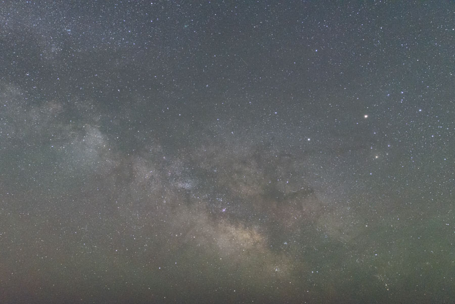 The Milky Way photo straight out of the camera.