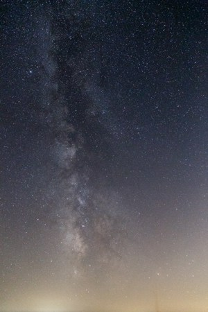 Example of what the Milky Way looks like to the human eye.