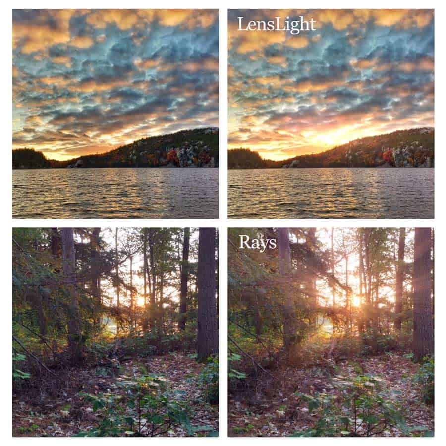 iPhone 5 photos with lighting effects added from LensLight and Rays apps. Photos by Tracy Munson.