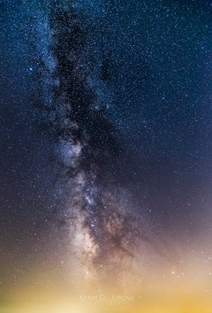 Milky Way and light pollution over Cape Cod Bay. (© Kevin D. Jordan Photography)