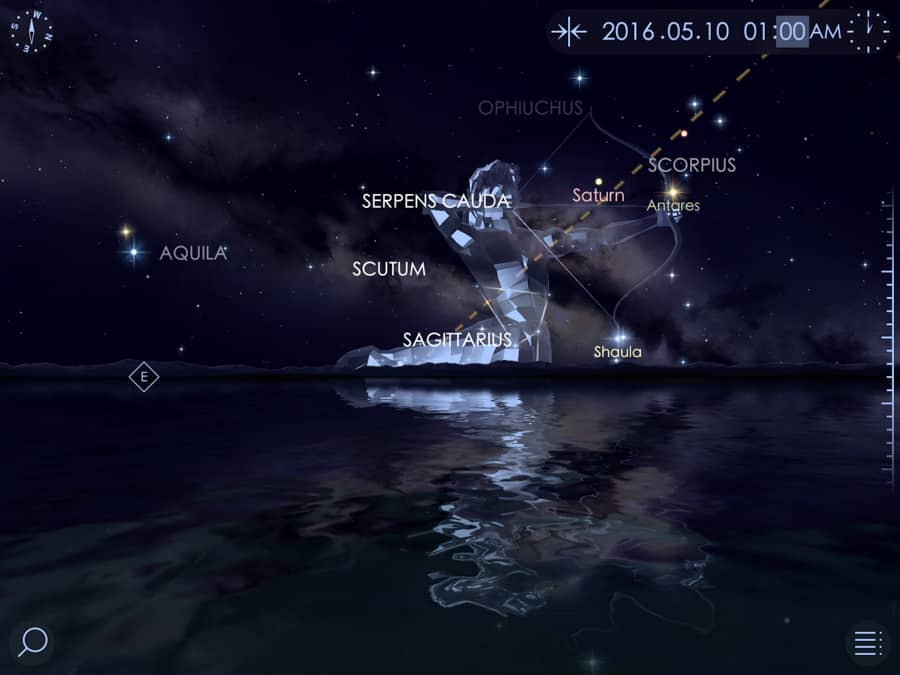 Screenshot of Starwalk II display