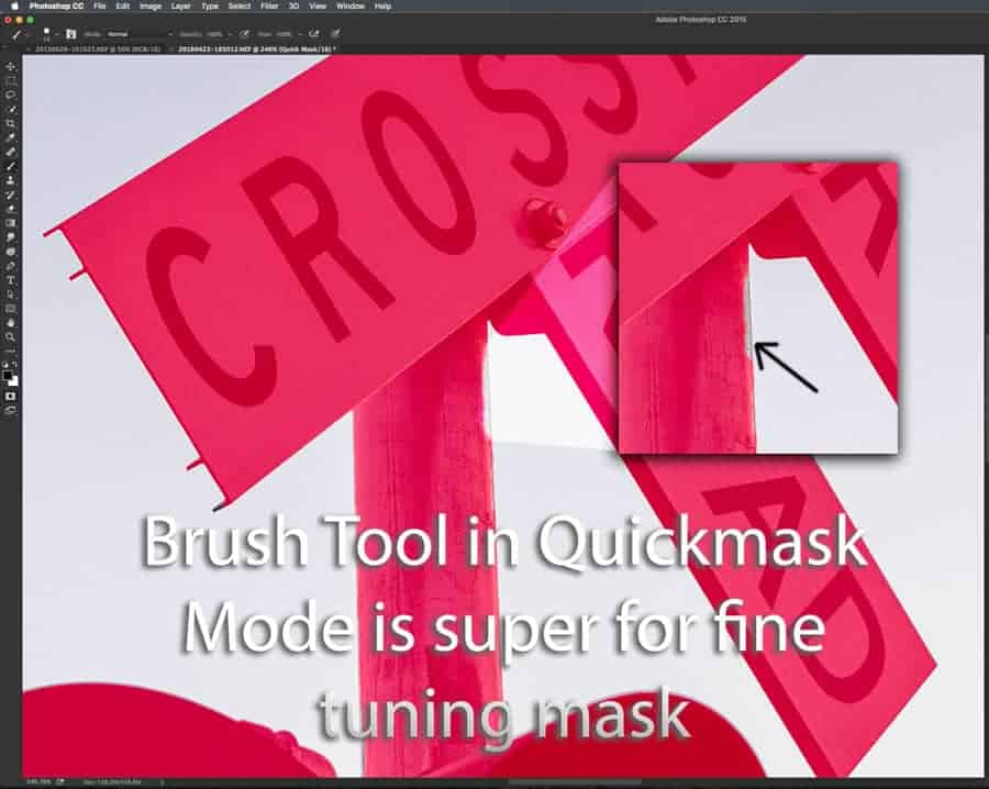 Using the brush tool in Photoshop to refine masks in either quick mask mode when you're creating a selection or editing a current layer mask/ channel allows you to make masks EXACTLY as you want them!