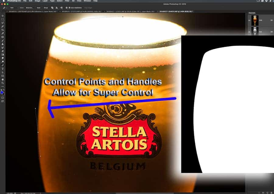 Using the Pen Tool in Photoshop allows for supreme control at selecting areas you want to select. Using control points and handles takes some practice. Don't give up at first! It is annoying but you will get it! :-)