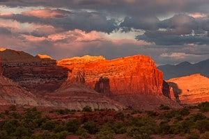 A colorful sunset at Capitol Reef. Photo by Rusty Parkhurst.