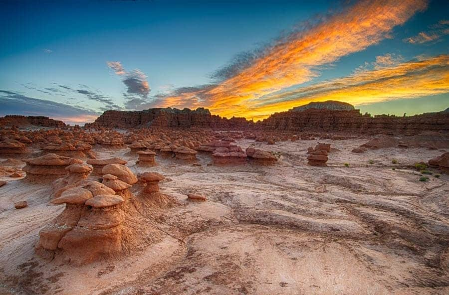 Sunrise over the hoodoos of Goblin Valley. Photo by Rusty Parkhurst.