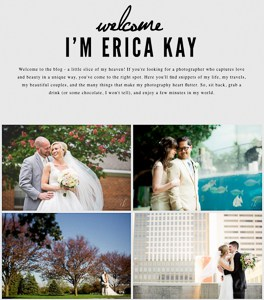 Post-wedding workflow - A screenshot of my blog page.