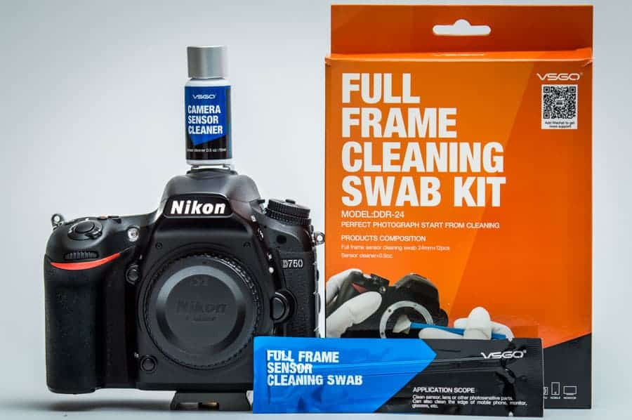 A cleaning kit like this is around $25 and will allow you to clean your sensor several times with the included swabs and solution. No fear! It is SOOOO EASY!