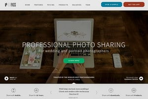 Post-Wedding Workflow - an image of the PASS homepage.